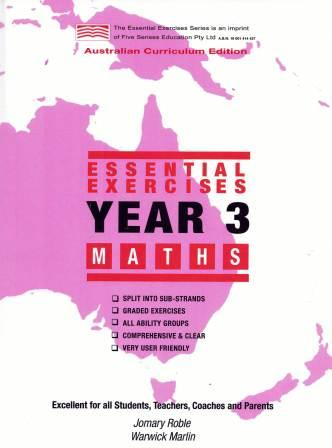 Image for Essential Exercises Year 3 Maths : Australian Curriculum Edition