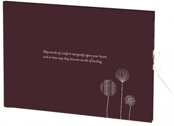 Image for Guest Book : Condolence  (Maroon coloured hardcover)