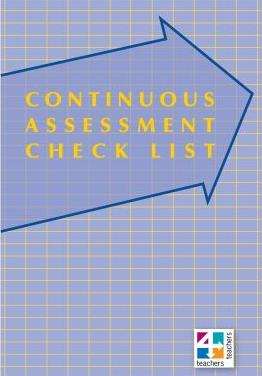 Image for Continuous Assessment Check List