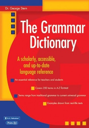 Image for The Grammar Dictionary : A Scholarly, accessible and up-to-date language reference RIC-1115