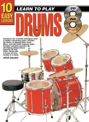 Image for 10 Easy Lessons Learn To Play Drums Book/CD/DVD