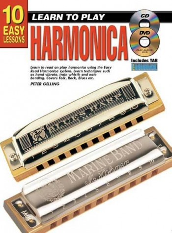 Image for 10 Easy Lessons Learn To Play Harmonica Book/CD/DVD For Beginners