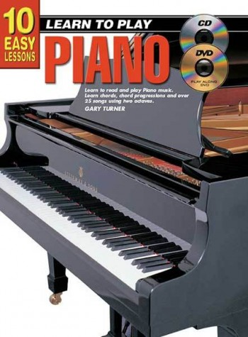 Image for 10 Easy Lessons Learn To Play Piano Book/CD/DVD