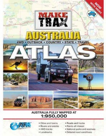 Image for Make Trax Australia Maxi Atlas with Index [Second Edition] 4WD Outback Country State Travel