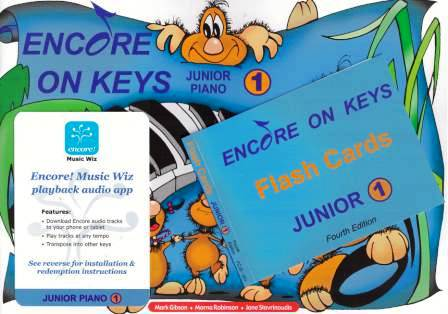 Image for Encore on Keys Junior Series 1 Piano / Keyboard Student Kit : Audio App and Flash Cards Included