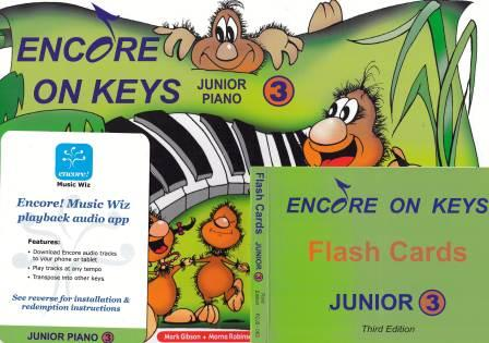 Image for Encore on Keys Junior Series 3 Piano/Keyboard - Audio App and Flash Cards Included