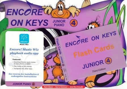 Image for Encore on Keys Junior Series 4 Piano / Keyboard Student Kit : Audio App and Flash Cards Included