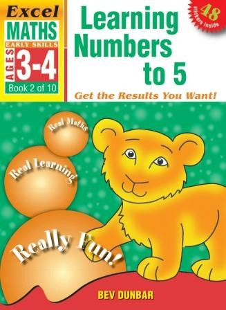 Image for Excel Early Skills : Maths : Learning Numbers to 5 (Ages 3-4) Book 2 of 10