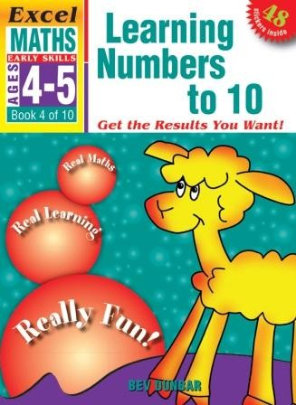 Image for Excel Early Skills : Maths : Learning Numbers 1 to 10 (Ages 4-5) Book 4 of 10