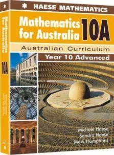 Image for Mathematics for Australia 10A Textbook : Year 10 Advanced : Australian Curriculum
