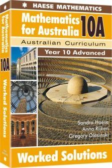 Image for Mathematics for Australia 10A Worked Solutions : Year 10 Advanced : Australian Curriculum