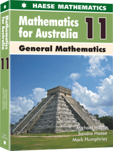 Image for Mathematics for Australia 11 General Mathematics Textbook