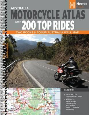 Image for Australia Motorcycle Atlas with 200 Top Rides : Two Books and Bonus Australia Wall Map