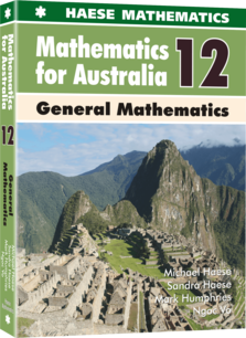 Image for Mathematics for Australia 12 General Mathematics Textbook