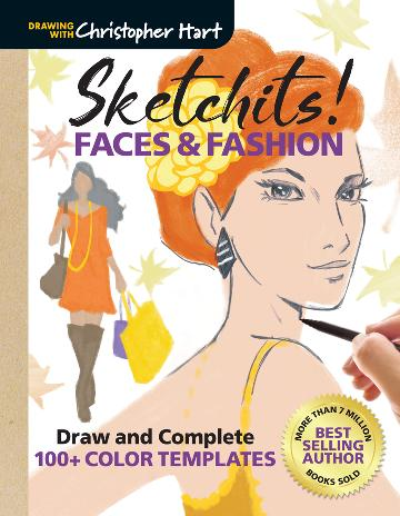 Image for Sketchits! Faces and Fashion : Draw and Complete 100+ Color Templates