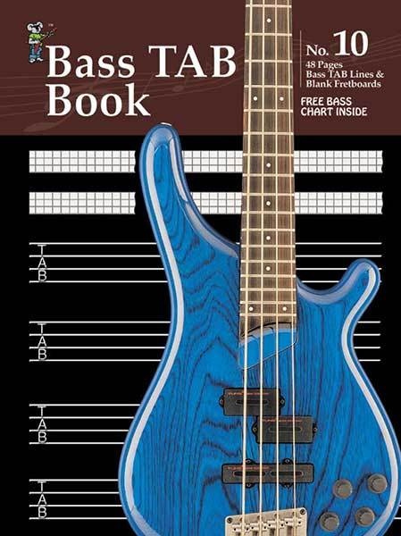 Image for Progressive Manuscript Book No. 10 : Bass Tab - 48 Pages - Bass Tab Lines - Blank Fretboards