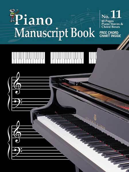 Image for Progressive Manuscript Book No. 11 : Piano - 48 Pages - Piano Staves - Chord Boxes