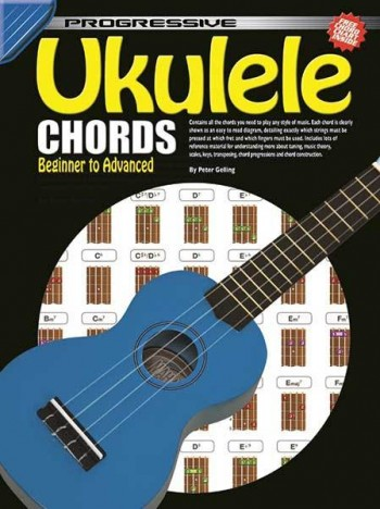 Image for Progressive Ukulele Chords Book Beginner to Advanced : Includes Free Chord Chart Poster