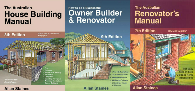 Image for 3 Book Set: The Australian House Building Manual 8th Edition + How to be a Successful Owner Builder and Renovator 9th Edition + The Australian Renovator's Manual 7th Edition