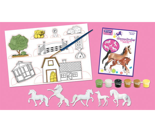 Image for Breyer Horses Stablemates Horse Crazy Colorful Breeds Paint Kit 5 Horses 1:32 Scale 4198