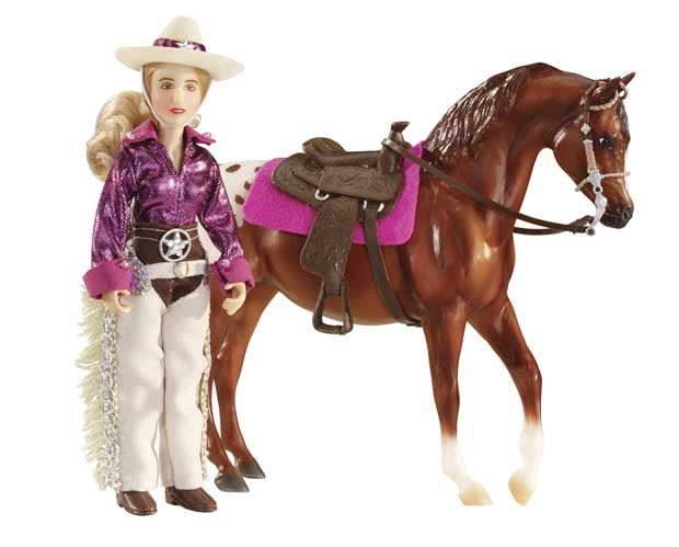 Image for Breyer Horses Classics Kaitlyn Cowgirl Fully Poseable Rider! 1:12 Scale 61053 *** Out of Stock ***