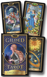 Image for The Gilded Tarot Set (includes The Gilded Tarot Companion Book by Barbara Moore)