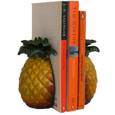 Image for Hand Painted Cast Iron Pineapple Bookends ***TEMPORARILY OUT OF STOCK***