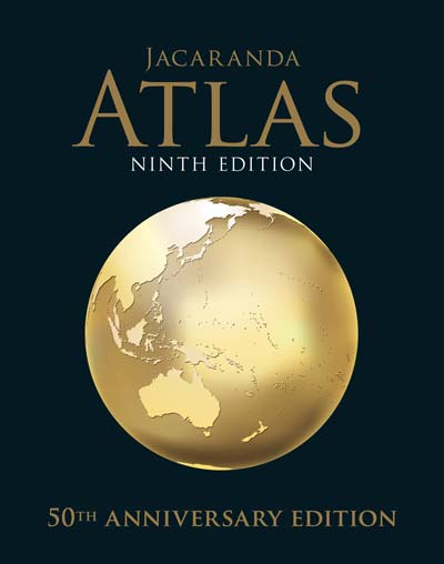 Image for Jacaranda Atlas Ninth Edition (Includes MyWorld Atlas) 50th Anniversary Edition