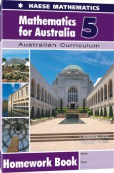 Image for Mathematics for Australia 5 Homework Book : Australian Curriculum