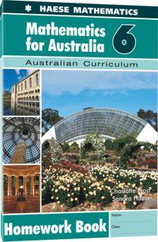Image for Mathematics for Australia 6 Homework Book : Australian Curriculum