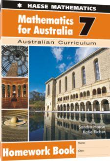 Image for Mathematics for Australia 7 Homework Book : Australian Curriculum