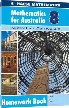 Image for Mathematics for Australia 8 Homework Book : Australian Curriculum