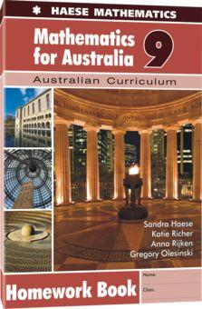 Image for Mathematics for Australia 9 Homework Book : Australian Curriculum