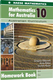 Image for Mathematics for Australia 10 Homework Book : Australian Curriculum